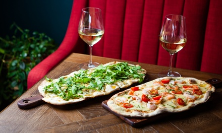 Pizza with Glass of Wine for One ($15), Two ($29) or Four People ($57) at GG's Eatery & Bar (Up to $116 Value)