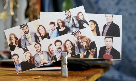 Two-, Three-, Four- or Five-Hour Photo-Booth Rental with Props and Prints from Back Drop Entertainment (50% Off)