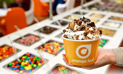 image for Frozen Yogurt at Orange Leaf O'Fallon, IL (Up to 38% Off)