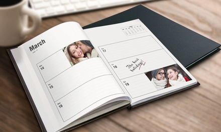 Up to Three Personalised A5 Leather Diaries from Printerpix (Up to 52% Off)