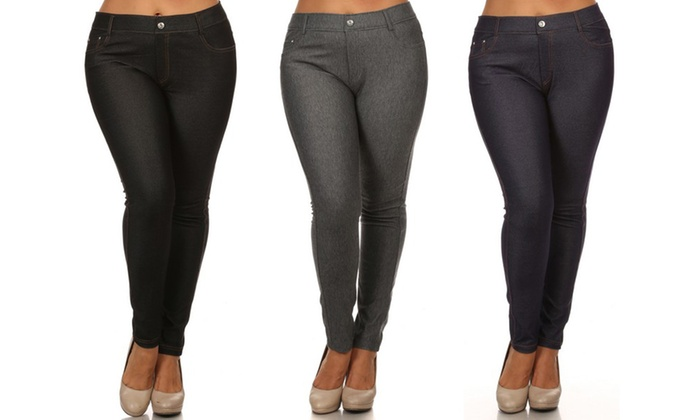 Women's Regular and Plus Size Jeggings (1- or 3-Pack)