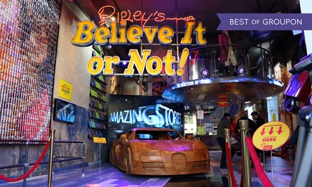Tickets Ripley's believe it or not incl. rondvaart door Amsterdam bij Blue Boat Company