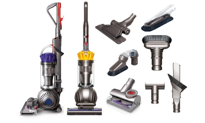 dyson ball upright vacuum with extra tools certified refurbished groupon. Black Bedroom Furniture Sets. Home Design Ideas