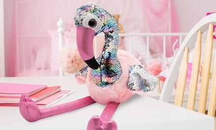 Flamingo Sequin Plush Toy