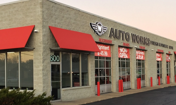 W Auto Works - Lombard: Four-Wheel Alignment, or Winterizing Package with Oil Change and Tire Rotation at W Auto Works (Up to 57% Off)