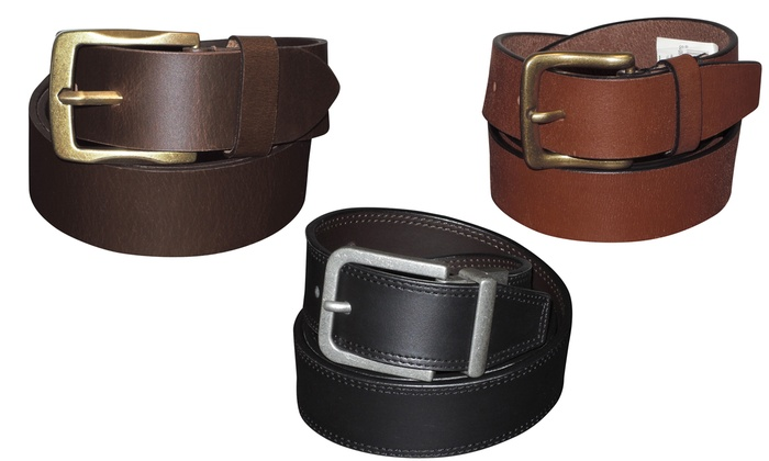 Buxton Expedition Men's Leather Belts