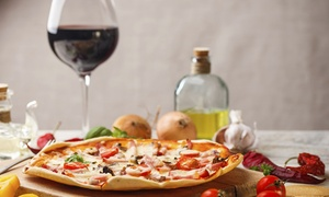 Far Rockaway: Pizza and a Bottle of Wine for Two or Four at Far Rockaway (Up to 67% Off)
