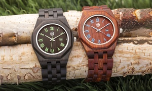 Earth Wood Men's Watches Baobab Collection