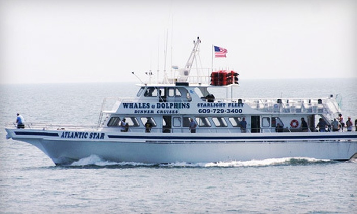 Starlight Fleet - Wildwood Crest: $52 for a 2.5-Hour Sunset Dolphin-Watching Cruise for Two from Starlight Fleet in Wildwood Crest (Up to $104 Value)