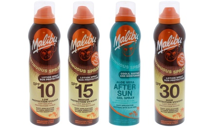 Three-Pack of Malibu Continuous Sun Protection Sprays