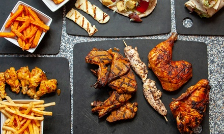 Choice of Platter with Bottomless Drinks for Up to Four at Rooster's Grill Shack