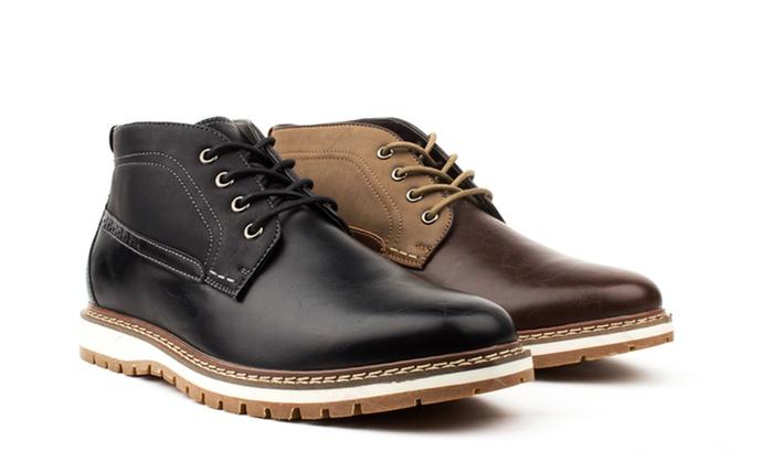 Vincent Cavallo Men's Two-Tone Chukka Boots