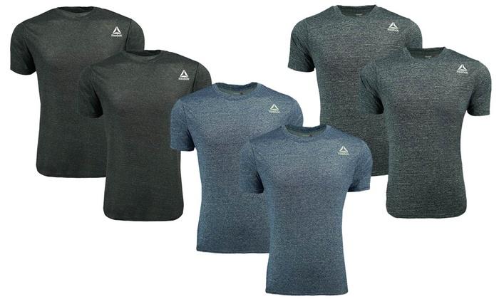 Reebok Men/'s Heathered Performance T-Shirt 2-Pack Navy//Grey 2XL