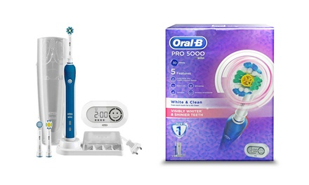 Oral-B Pro 5000 Cross Action or White and Clean Electric Rechargeable Toothbrush for £49.99 With Free Delivery (71% off)