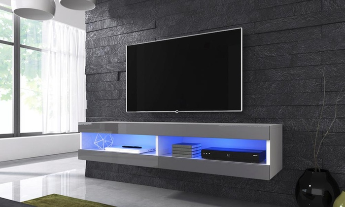 Groupon Goods Global GmbH: Volant Floating TV Cabinet With Optional LED  Lights With Free Delivery ...