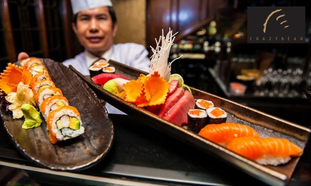 £20 for Sushi, Sashimi and Premium Champagne worth £40 at The Crazy Bear