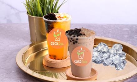 Regular Pearl Milk Tea or Regular Passionfruit Blast: One $3.50, Two $6.99 or Four People $13.95, QQ Tea Australia