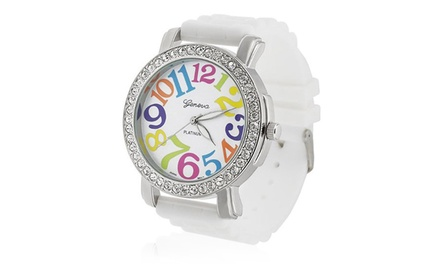 Geneva Women's MultiColoured Silicone Watch