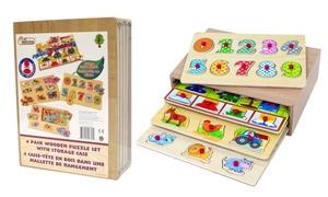 Casier de 4 puzzles en bois WDK Partner