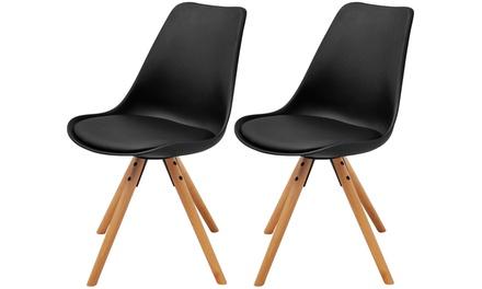 2 oder 4 VidaXL moderne Esszimmerstühle in Schwarz oder Weiß (59,99 €)