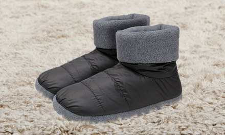 Zapatillas de casa estilo bota