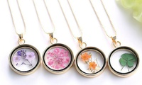 Two or Four Glass Memory Lockets from AED 49 (Up to 88% Off)