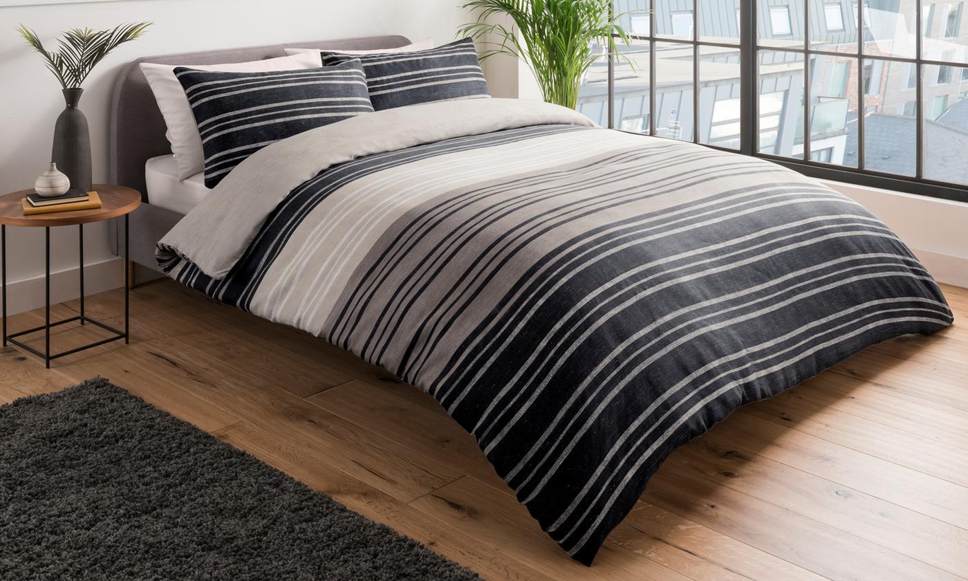 Pieridae Textured Stripe Duvet Cover Set