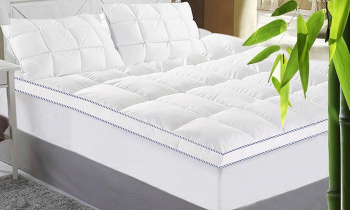 Bamboo mattress topper groupon goods for Decor 18 international pty ltd