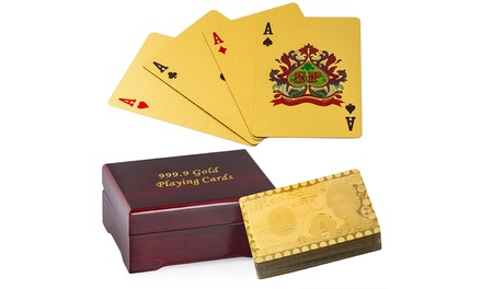 Gold-Plated Flexible Playing Cards from £9.98 (Up to 60% Off)