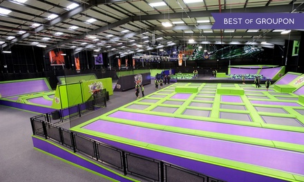 Trampoline Park Access: One or Two Hours for Up to Four at Jump Giants (Up to 45% Off)