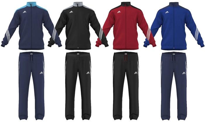 Groupon Goods Global GmbH: adidas Polyester-Trainingsanzug Sereno 14 in der Farbe nach Wahl