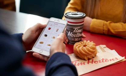 image for $5 for $10 with Tim Hortons Mobile App (50% Off)