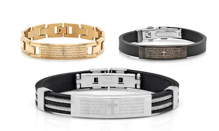 Stainless Steel Men S Lord Prayer Bracelets