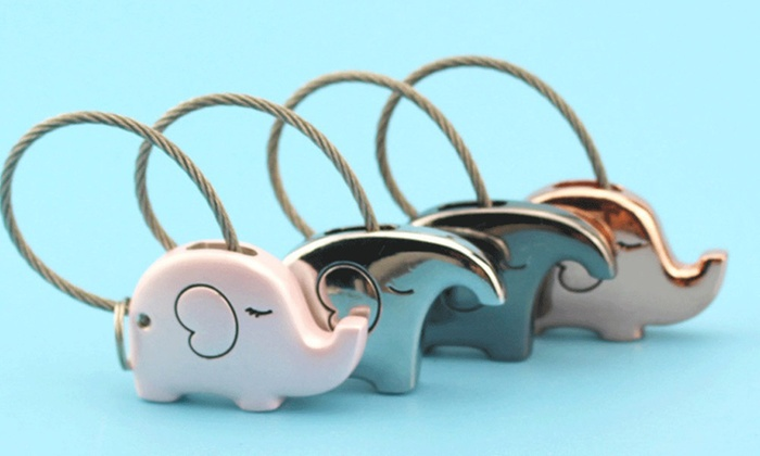 Up To 72% Off on Elephant Key Chain Set (2-Piece)  99fb62049