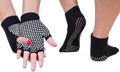 Guantes y/o calcetines para yoga, pilates y entrenamiento con barras