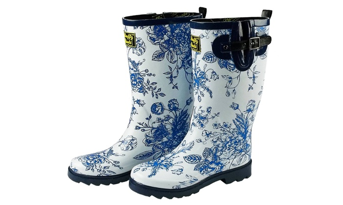 Buffy Boots Women's Patterned Rain Boots (Size 7) | Groupon