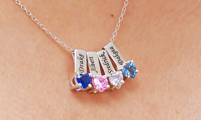 Monogramhub.com: Mother's Necklace with One, Two, Three, Four, or Five Birthstone Charms from Monogramhub.com (Up to 83% Off)
