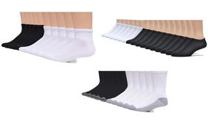 Gildan Men's Crew, Ankle or No Show Socks (20 Pairs)