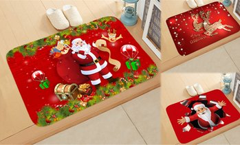 Christmas-Themed Washable Doormat