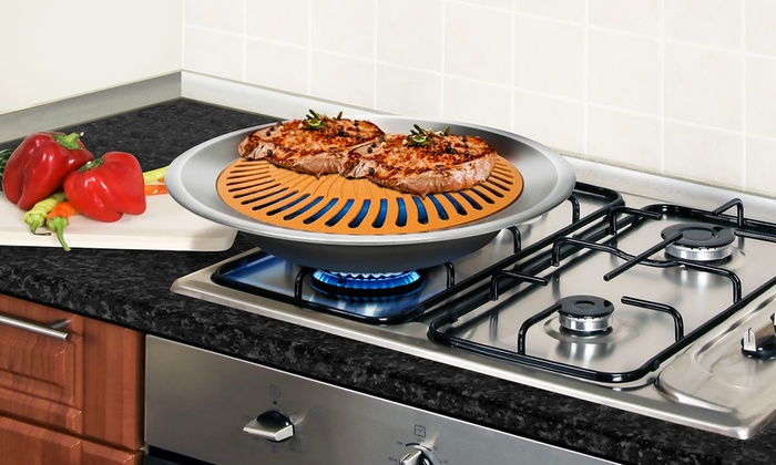 Gotham Steel Smokeless Stovetop Indoor Grill (1- or 2-Pack) | Groupon