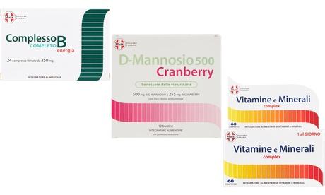 Integratori complesso B, mannosio cranberry e vitamine e Minerali