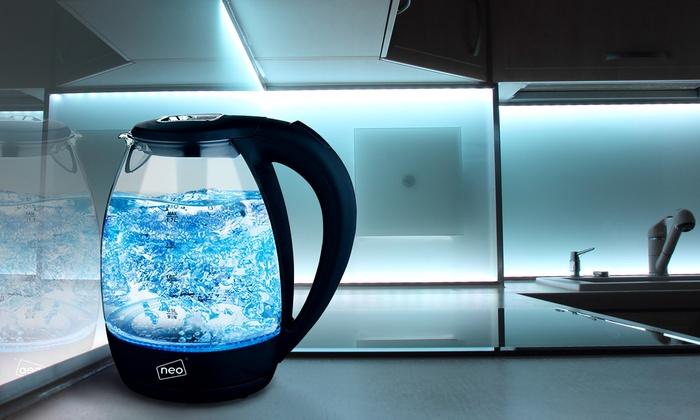 Kabelloze glazen waterkoker | Groupon Goods