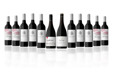 $79 for 12 Bottles of Mixed Premium AU and NZ Winter Warmer Pinot Noir Wines (Don't Pay $289)