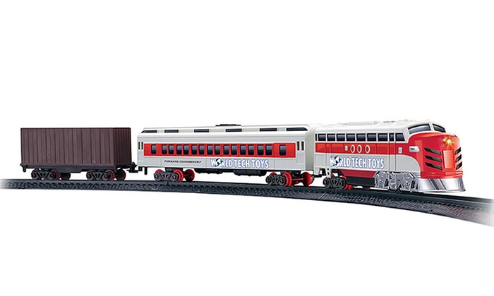 Electric Luxury Lights and Sounds Train Set
