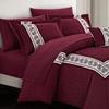 Aiden Hexagon Embossed Comforter and Sheet Set (6- or 8-Piece)