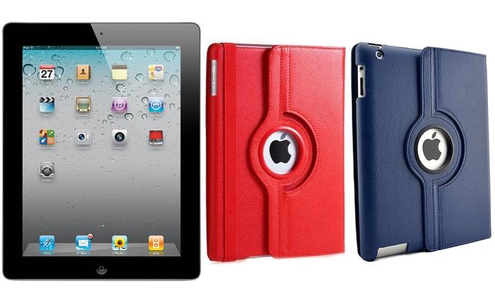 Apple iPad 2 Wifi et GSM reconditionné avec housse flip cover incluse, livraison offerte