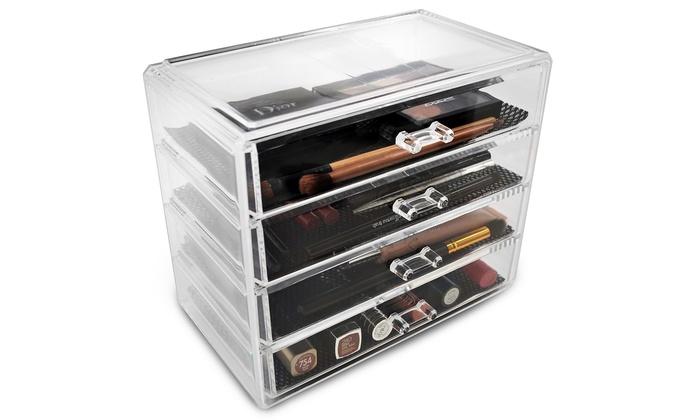 ... Sorbus Makeup Storage Organizer Display Case Set: Sorbus Makeup Storage  Organizer Display ...