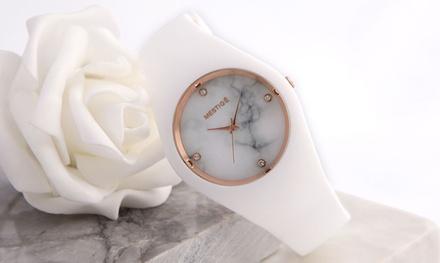 Armbanduhr The Twain verziert mit Kristallen von Swarovski® in der Farbe nach Wahl inkl. Versand (75% sparen*)