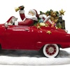 Pipka Hand-Painted Santa Car Figurine