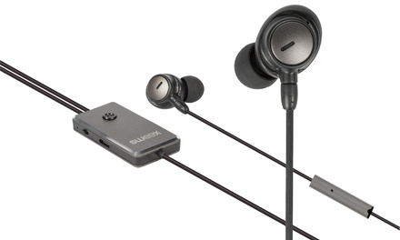 Auriculares con control activo de ruido Sweex